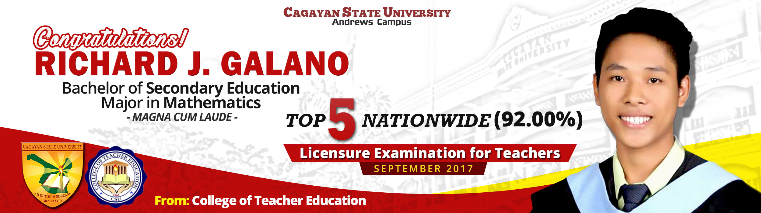 TOP 5 - RICHARD GALANO